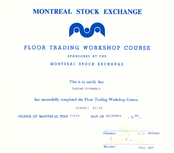 Montreal stock exchange options course